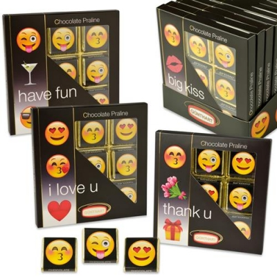 16 pz Scatole  Emoticons , assortiti, ripieni di napolitains