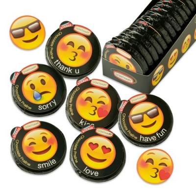 36 pz Tondi  Emoticons , assortiti
