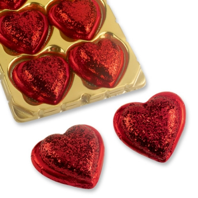 Cuore al cioccolato con decorazione